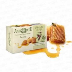 Натуральное оливковое мыло с медом 100 г Aphrodite  100 г