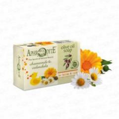 Натуральное оливковое мыло с Ромашкой и Календулой, 100 г Aphrodite
