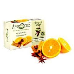 Оливковое мыло с маслом апельсина и корицей, Aphrodite, натуральное, 100 г