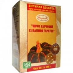 Шрот (клетчатка обезжиренная) тыквенный 300 гр