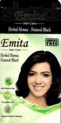 Эмита - Натуральная стойкая краска для волос на основе хны Черный без аммиака10 гр