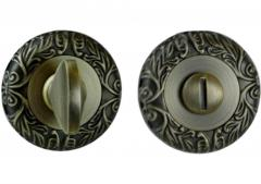 Фиксатор круглая розетка античная бронза - квадрат 8
