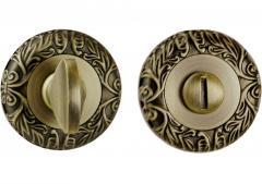 Фиксатор круглая розетка античная медь - квадрат 8
