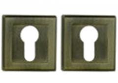Цилиндрическая накладка квадрат античная бронза