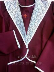 Платье-костюм для погребения (Пл№4) бордо