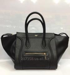 The Celine Phantom bag is black