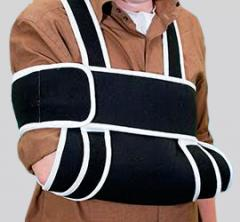 Bandage on an elbow with fixing of a clavicle of
