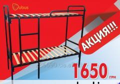 Bunk bed High tech double 70/190 (black metallic)