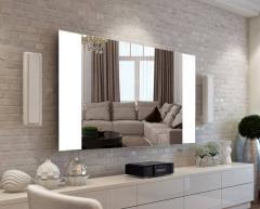 Mirrors with illumination of LED