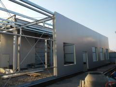 Commercial construction of metal structures