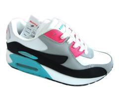 Sneakers for the girl on laces of