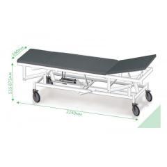 Тележка с гидравлическим механизмом и регулировкой для транспортировки пациентов ВМп-6, Viola