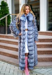 Fur coat from fur of the silver fox