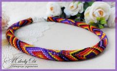 "Zhgutiki from beads ""Bright rhombuses"