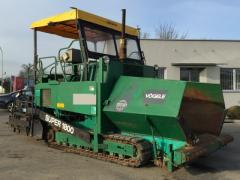 Asphalt spreader of VOGELE SUPER 1800
