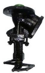 The valve locking angular the lower descent