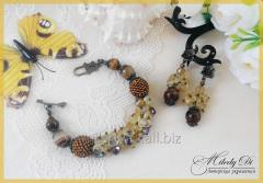"""Set """"Honey color"""" (bracelet and"""