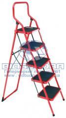 Стремянка металлическая бытовая INTERTOOL 380х260мм 5 ступеней (LT-0035)