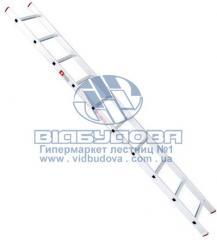 Лестница односекционная алюминиевая бытовая INTERTOOL 10 ступеней (LT-0110)