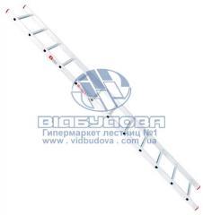 Лестница односекционная алюминиевая бытовая INTERTOOL 12 ступеней (LT-0112)