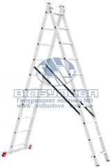 Лестница двухсекционная алюминиевая бытовая INTERTOOL 2х10 ступеней (LT-0210)