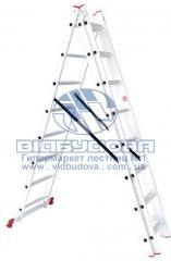 Лестница трехсекционная алюминиевая бытовая INTERTOOL 3х8 ступеней (LT-0308)