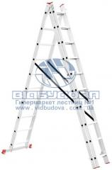 Лестница трехсекционная алюминиевая бытовая INTERTOOL 3х10 ступеней (LT-0310)