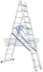 Лестница трехсекционная алюминиевая бытовая INTERTOOL 3х11 ступеней (LT-0311)