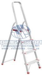 Стремянка алюминиевая бытовая INTERTOOL 4 ступени (LT-1004)
