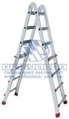 Лестница четырехсекционная алюминиевая бытовая телескопическая INTERTOOL 4х4 ступени (LT-2044)