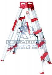 Стремянка алюминиевая бытовая трансформер INTERTOOL 4 ступени (LT-5000)