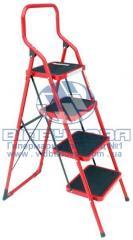 Стремянка металлическая бытовая INTERTOOL 380х260мм 4 ступени (LT-0034)
