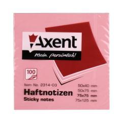 Блок бумаги с клейким слоем 75x75 мм А-2314,розовый