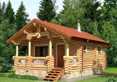 Дом из оцилиндрованного бревна 16