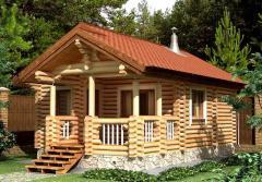 Дом из оцилиндрованного бревна 11