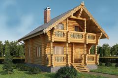 Дом из оцилиндрованного бревна 7