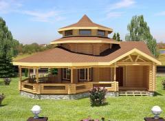 Дом из оцилиндрованного бревна 9