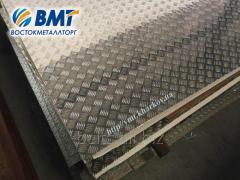 Алюминиевый рифленый лист 2,0 мм (алмаз, дуэт, квинтет, чечевица)