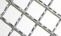 Сетка тканая нержавеющая рифленая 10,0х1,0. 2-10,0-1,0