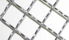 Сетка тканая нержавеющая рифленая 10,0х2,0. 2-10,0-2,0