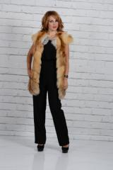 Vest from fur of a fox