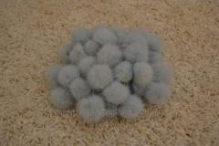 Pompons from natural fur of a mink
