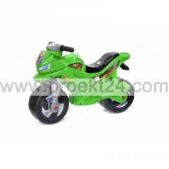 Мотоцикл 2-х колесный, зеленый 65*46см