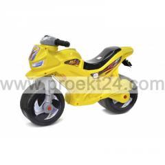 Мотоцикл 2-х колесный, лимонный 65*46см