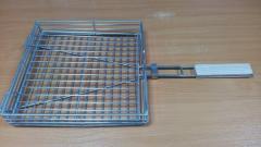 Решетка одинарная и решетка двойная для барбекю