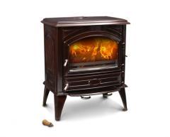 Чугунная печь Dovre 640 CB/Е6 коричневая майолика