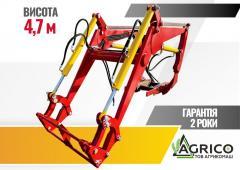 The quick-detachable wheel loader on MTZ, YuMZ in