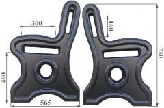 Forms made of ABS plastic for the production of