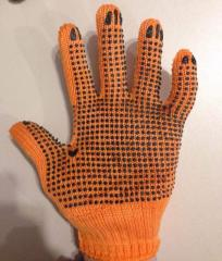 Рабочие перчатки ПВХ N-55 без птицы