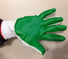 Latex viewing gloves